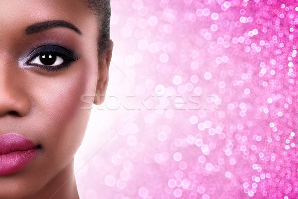 African American Woman Make Up Stock photo © Stephanie_Zieber