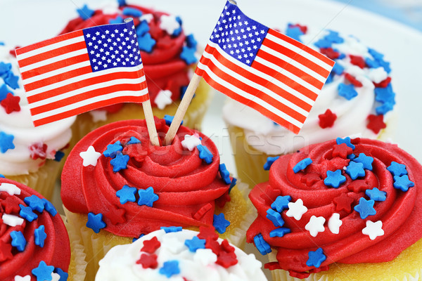 Independence Day Cupcakes Stock photo © StephanieFrey