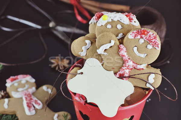 Gingerbread Cookies and Blank Card Stock photo © StephanieFrey