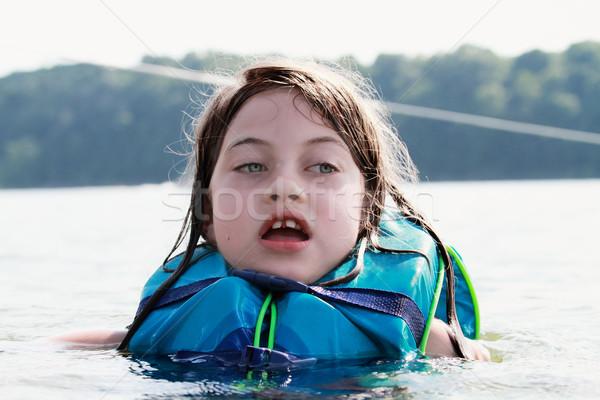 Meisje leven bange meisje meer Stockfoto © StephanieFrey