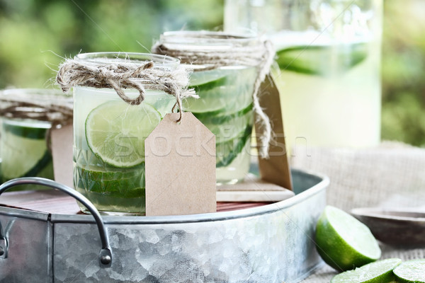 Limeade in Mason Jars Stock photo © StephanieFrey