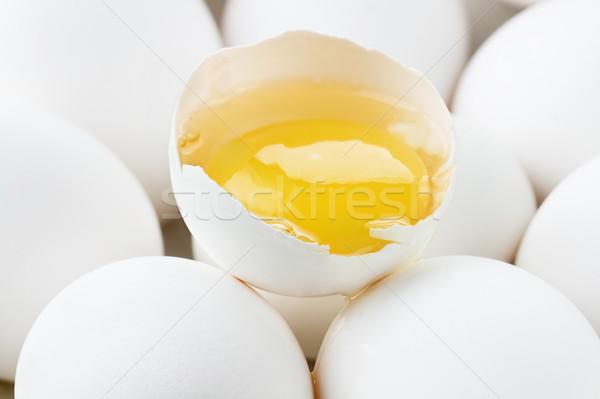 сырой яйца свежие белый куриные Сток-фото © StephanieFrey