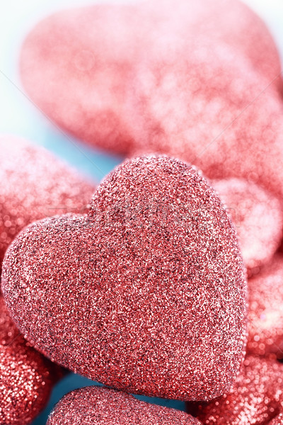 Sparkly Red Heart Background Stock photo © StephanieFrey