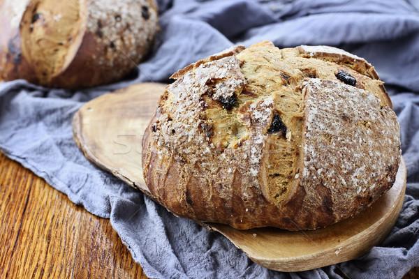Ierse soda brood rustiek oud hout tabel Stockfoto © StephanieFrey
