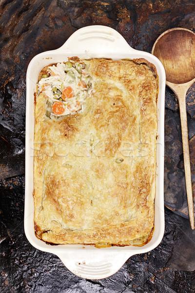 Chicken Pot Pie Stock photo © StephanieFrey