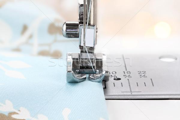 Sewing Machine Needle and Fabric Stock photo © StephanieFrey