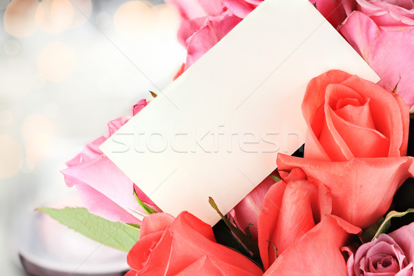 Roses and Card Stock photo © StephanieFrey