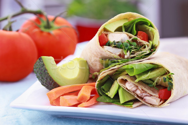 Vegetarian Sandwich Wrap Stock photo © StephanieFrey