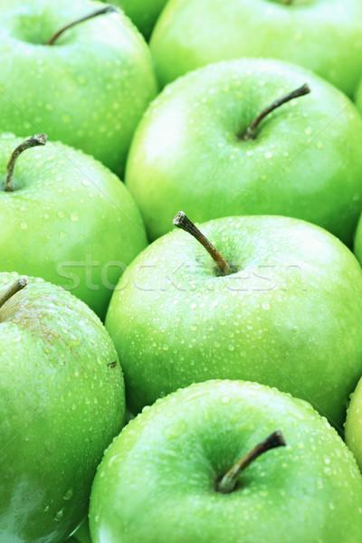 зеленый яблоки вверх фотография свежие Сток-фото © StephanieFrey