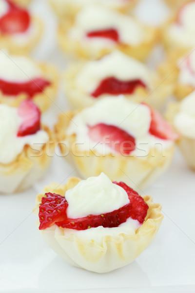 Fruit Tarts Stock photo © StephanieFrey