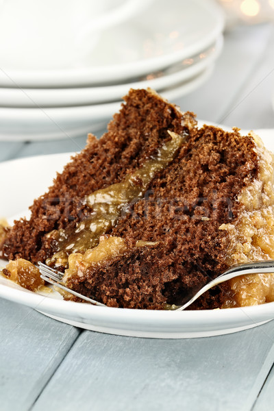 Slice of German Chocolate Cake Stock photo © StephanieFrey