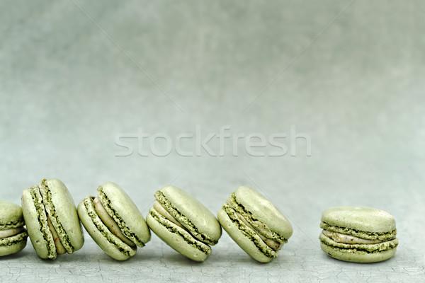 Pisztácia macaronok extrém sekély mező copy space Stock fotó © StephanieFrey