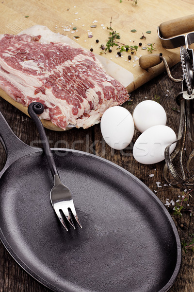 Cast Iron Skillet Stock photo © StephanieFrey