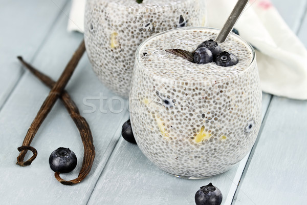 Chia Seed Pudding and Fruit Stock photo © StephanieFrey
