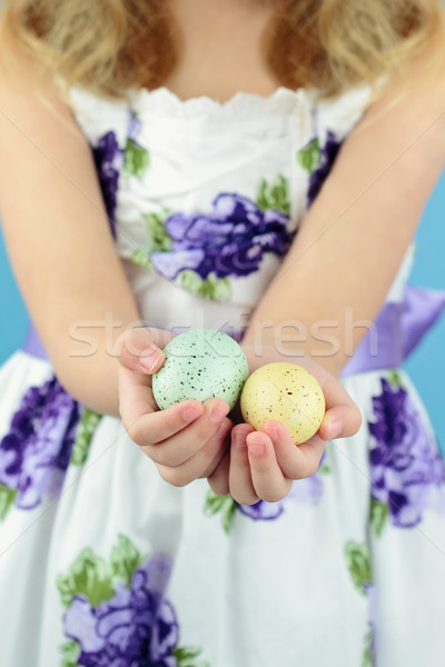 Holding Easter Eggs Stock photo © StephanieFrey