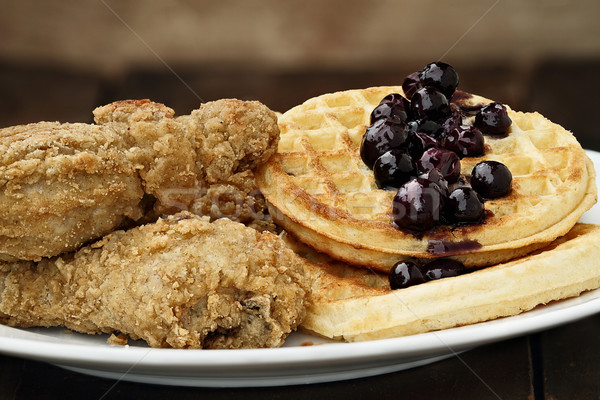 Fried Chicken and Waffles Stock photo © StephanieFrey