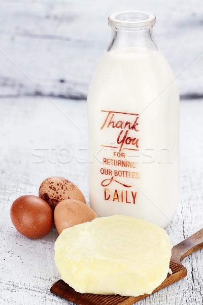 фермы свежие свежее молоко масло яйца Сток-фото © StephanieFrey