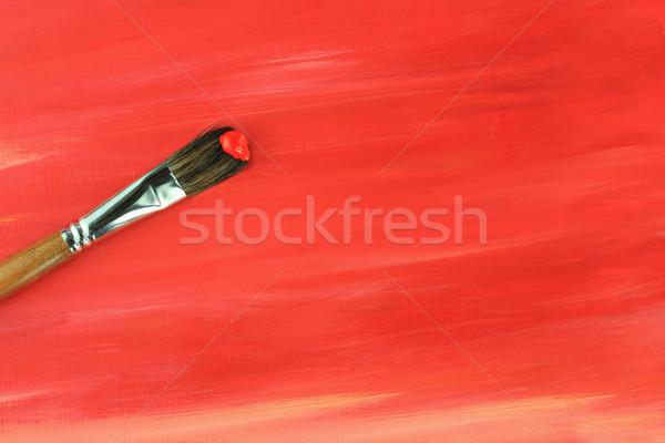 Paintbrush and Painted Background Stock photo © StephanieFrey