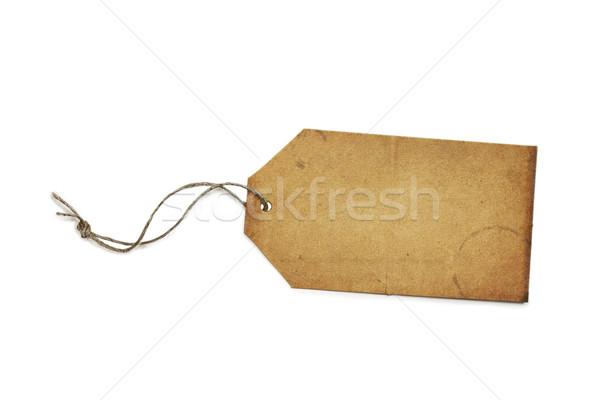 Vintage papier prix tag étiquette isolé Photo stock © StephanieFrey