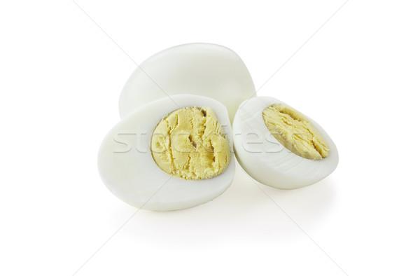 Főtt tojások kivágás izolált fehér árnyék Stock fotó © StephanieFrey