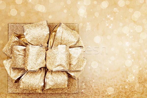 Golden Present Stock photo © StephanieFrey