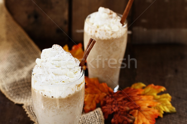 Two Pumpkin Spice Iced Coffees Stock photo © StephanieFrey