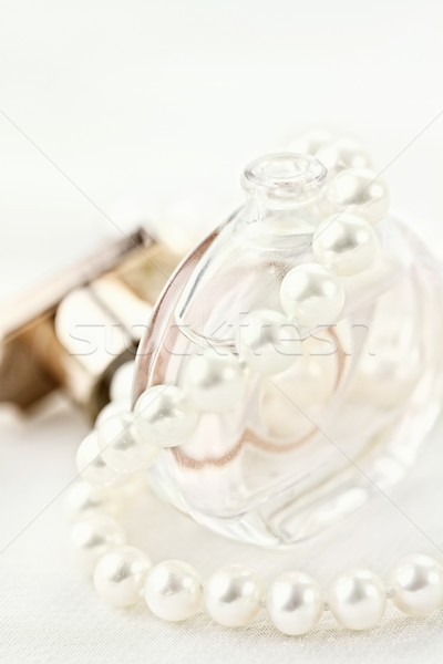 真珠 香水 美しい 真珠 ネックレス ボトル ストックフォト © StephanieFrey