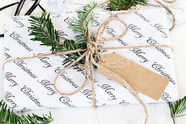 Natal dom membro belo presentes decorado Foto stock © StephanieFrey