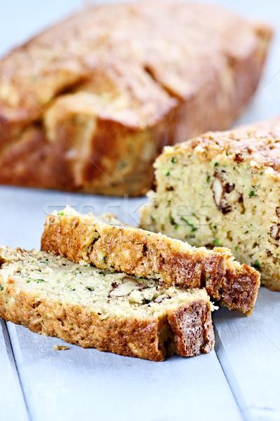 ズッキーニ パン 新鮮な スライス 浅い 食品 ストックフォト © StephanieFrey