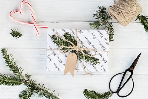Branco natal dom membro belo decorado Foto stock © StephanieFrey