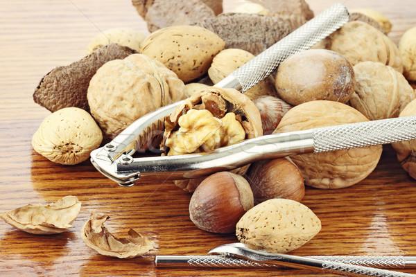 Mixed Nuts and Nut Cracker Stock photo © StephanieFrey