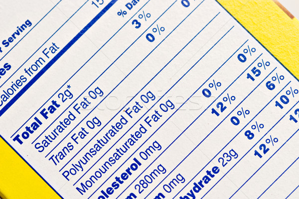 Nutrition Label Stock photo © StephanieFrey