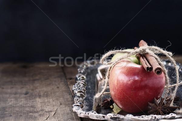 корицей яблоки свежие звездой анис выстрел Сток-фото © StephanieFrey