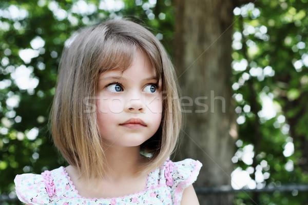 Cute meisje haren meisje gesneden Stockfoto © StephanieFrey