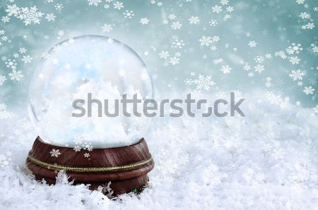 Neve globo dois adorável pequeno dentro Foto stock © StephanieFrey