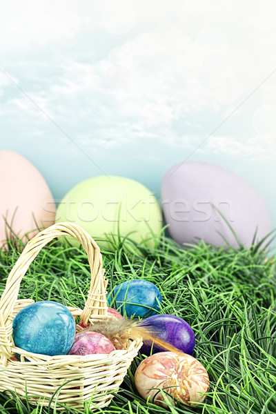 Tie Dyed Easter Eggs Stock photo © StephanieFrey
