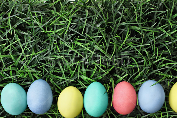 Easter Eggs Lying in Grss Stock photo © StephanieFrey
