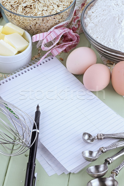Recipe Book and Pen Stock photo © StephanieFrey