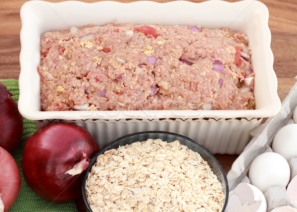 Meatloaf Ready for the Oven Stock photo © StephanieFrey