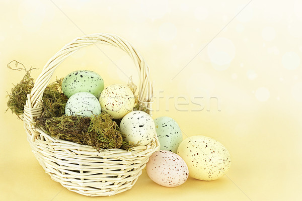 Spotted Easter Eggs Stock photo © StephanieFrey