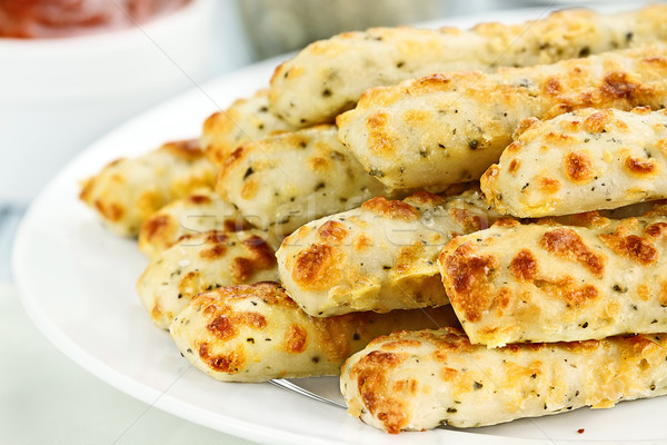 Asiago Cheese Breadsticks and Dip Stock photo © StephanieFrey