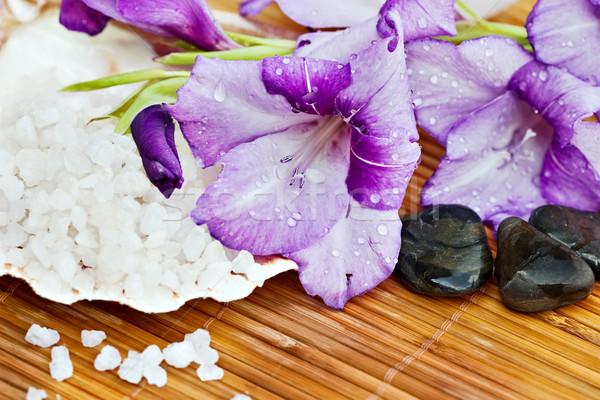 Flowers and Bath Salts Stock photo © StephanieFrey