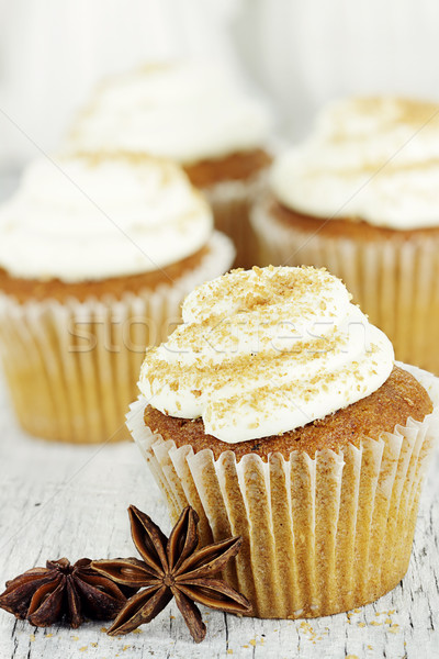 Pumpkin Spice Cupcakes Stock photo © StephanieFrey