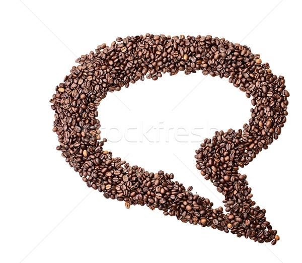 Aislado grano de café burbuja de pensamiento blanco habitación espacio de la copia Foto stock © StephanieFrey