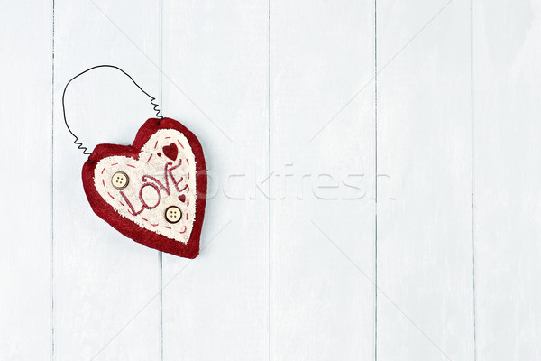 St. Valentine's Heart Stock photo © StephanieFrey