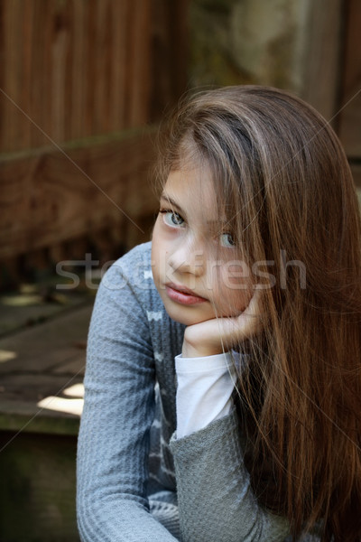 Young Pre Teen Girl Female Woman Torso Vertical Format: Fair Skin Stock Photos, Stock Images And Vectors