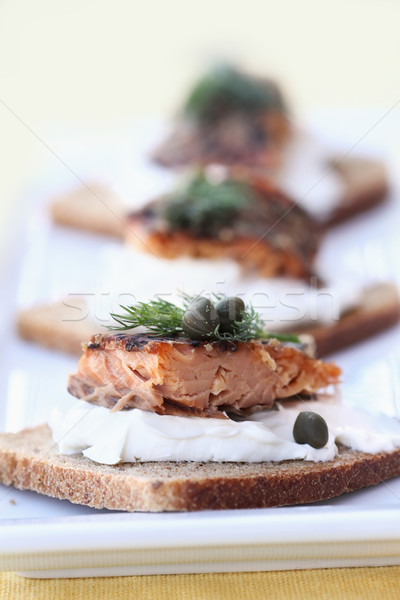 Smoked Salmon  Stock photo © StephanieFrey