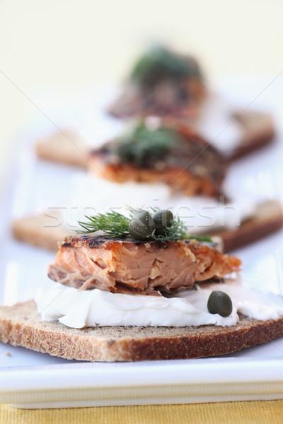 Delicioso servido centeio festa peixe Foto stock © StephanieFrey
