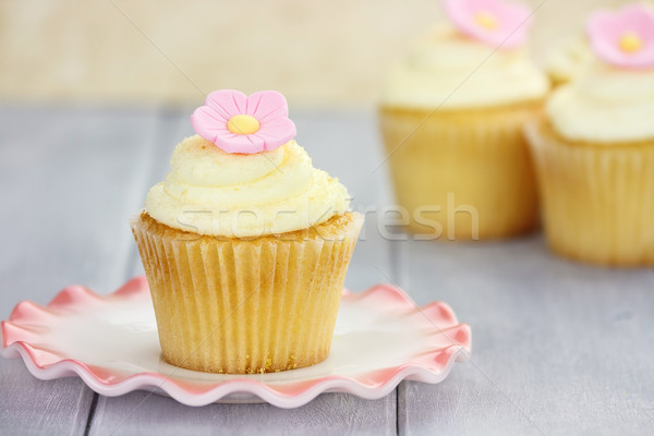 Cupcake on Saucer Stock photo © StephanieFrey