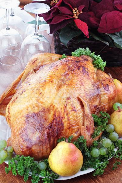 Férias Turquia jantar ação de graças natal fresco Foto stock © StephanieFrey